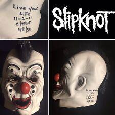 Slipknot Shawn Crahan Clown signed Mask Maske Limited Edition! Autogramm RARE!