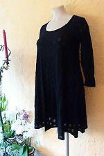 BORIS INDUSTRIES Tüll Kleid 40 42 44 (1) NEU schwarz/Ausbrenner-Kreise A-Form
