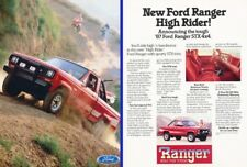1987 Ford Ranger Truck 2-page Original Advertisement Print Art Car Ad J278