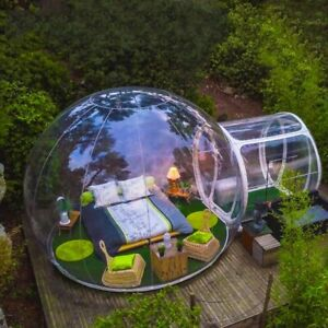 Outdoor 3m Clear Top Transparent Inflatable Bubble Camping Tent Capsule Tunnel