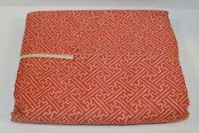 Ralph Lauren Villa Camelia Paprika Red Fretwork Full Flat Sheet New Defect