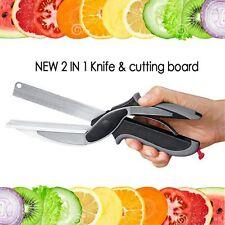 Multi-Function Knife Smart Clever Cutter Scissors 2 in 1 Knife&Cutting Board