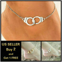 Handcuffs Beach Gold Silver Anklet Ankle Bracelet Foot Chain