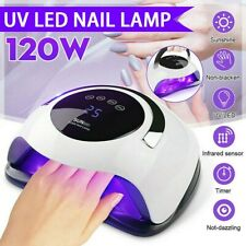 120W Professional LED UV Nail Polish Dryer Lamp Gel Acrylic Curing Light Spa Kit