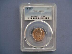 1949 USA - 5 Cents - Jefferson Nickel 1st portrait- Copper-Nickel - 9296