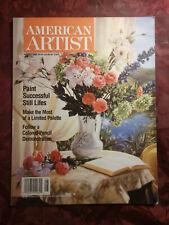 AMERICAN ARTIST August 1998 Robin Anderson Jacob Collins Jack Pardue Rick Dula