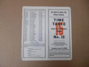 1946 Fort Worth Denver City Railway Employee Timetable 15 Wichita Falls Amarillo