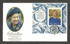 GIBRALTAR 2001 QUEENS 75TH BIRTHDAY MINISHEET FDC SG,MS977 LOT 5276A