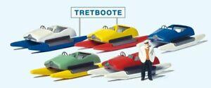 Pedal Boat Rental Scene (1) Exclusive HO/OO Figure Set Preiser 10685