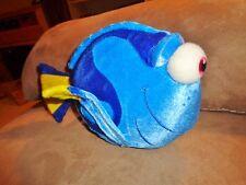 """Fish Dory Finding Nemo Blue Velvet 10"""" Walt Disney World Stuffed Plush Bean Bag"""