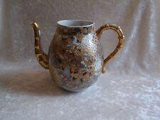Vintage Porcelain Japanese Raised Gold w/Gilded Moriage Beaded Tea Pot - No Lid