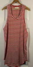 Fear Of God Third Collection Red Striped Tank Top Elongated Large
