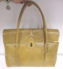FENDI Borsa Camel Textured Leather Large Double Handle Shoulder Bag - New