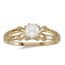 e7cebd0bf Cultured Yellow Gold Fine Pearl Rings for sale | eBay