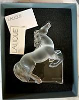 "Lalique Large 8.5"" Kazak Rearing Horse - Mint, Signed, Authentic $3000 Retail"