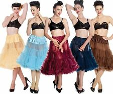 Hell Bunny Long Petticoat Rich Colour Range