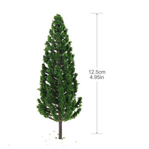 10pcs Model Pine Trees 1:50 For OO O Scale Railway Layout 12.5cm Plastic S13045