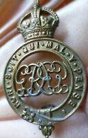 GG Badge Grenadier Guards Cap Badge KC 2 Lugs BRASS ANTIQUE Original