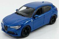 ALFA ROMEO STELVIO 1:24 scale diecast model car die cast toy miniature blue