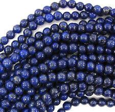 AA Real Natural 8mm Blue Lapis Lazuli Gemstone Round Loose Beads 15'' Strand