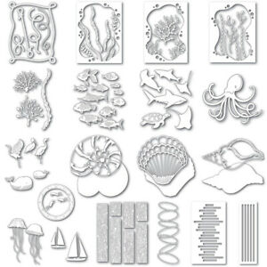 Various Ocean Coral Fish Metal Cutting Dies Scrapbooking Embossing Stencil Album