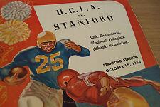 "1955 California COLLEGE Football Program~""U.C.L.A. vs STANFORD""~50th Anniversary"