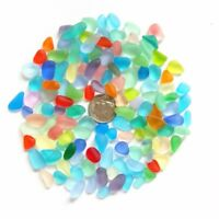Small Size 8-12 mm Undrilled Beach Glass Sea Glass Beads For Jewelry Making