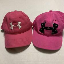 Under Armour Lot Of 2 Women's Pink Strapbacks Cap