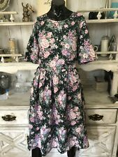 80's Floral Cotton Dress Size M/L* by Angie Strauss