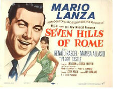 Seven Hills of Rome Lobby Card - Title Card - Mario Lanza - 1958 - VF