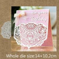 Metal Cutting Dies cut die flower lace border card Scrapbooking DIY Card Die Cut