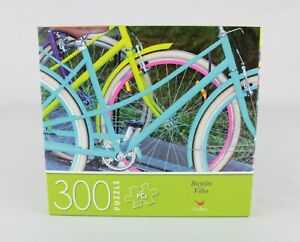 Kids Puzzle CraZart 300pc Colorful Pastel Bicycles Cardinal NEW