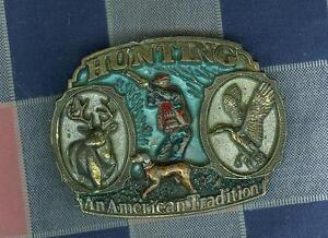 t1. Belt Buckle Great American Buckle Co Hunting American Tradition 3 Inch Wide