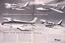 1966 Cessna twins Aircraft Airplane ORIGINAL Vintage Ad CMY STORE  5+= FREE SHIP