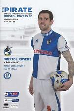 * FULL SET OF ALL BRISTOL ROVERS 2013/14 HOME PROGRAMMES *