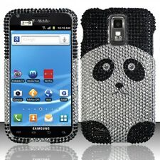 T-Mobile Samsung Galaxy S II 2 T989 Crystal BLING Hard Case Phone Cover Panda