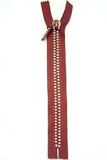 Cinnamon Rust Brown 9 Inch 23 Cm Double Row Crystal Rhinestone Closed End Zipper