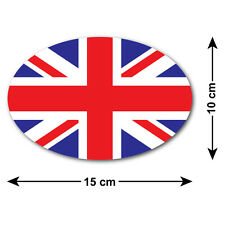 Union Jack etiqueta engomada del coche / Decal-Bandera Nacional del Reino Unido (10 X 15 Cm forma de óvalo)