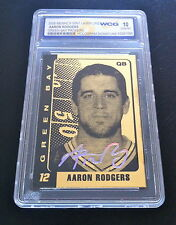 AARON RODGERS AUTOGRAPHED GEMMT 10 LIMITED EDITION 2008 23KT GOLD CARD! PACKERS!