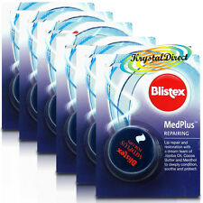 6x Blistex MedPlus Med Plus Repairing 7ml Soothe Cool Protect