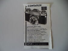 advertising Pubblicità 1955 ZEISS IKON CONTAFLEX