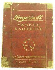 EARLY 1900'S INGERSOLL YANKEE RADIOLITE POCKET WATCH DISPLAY BOX.