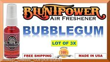 3X BluntPower 100% Concentrated Oil Based Air Fresheners Blunt Power BUBBLEGUM