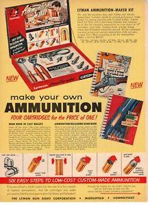 Vintage 1958 Lyman Ammunition Maker Kit Middlefield CT print ad