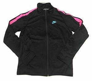 Nike Men's N98 Full-Zip South Beach Jacket Black/Pink Sz M 861648-011