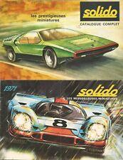 CATALOGUES SOLIDO 1969 ET 1971 - BEL ETAT