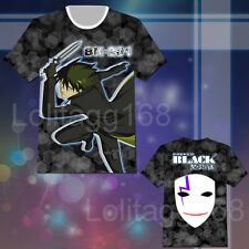 Anime Darker Than BLACK Hei T-shirt Tee Tops Cosplay Costume Short Sleeve Summer