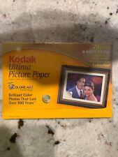 "Kodak Ultima Picture Paper for Inkjet Printers 20 - 4x6"" ColorLast"