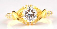 D/VVS1 14KT Yellow Gold 2.20Ct Stunning Round Shape Women's Engagement Ring