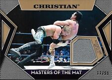 2011 Topps WWE Masters Of The Mat Gold Christian Mat Relic Card #17/50